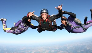 Griffin falls for skydiving experience