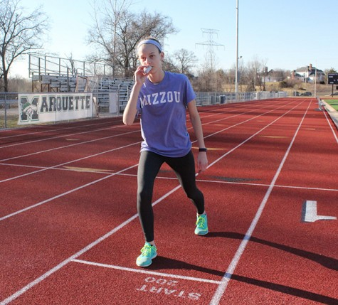 Melissa Price, freshman, is one of 10 percent of teenagers who have asthma. The condition didn't stop her from running track.