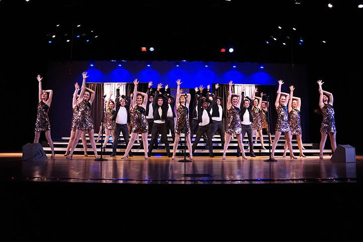 Center Stage competes at Franklin Central on Feb. 26 for their final competition of the season. The team placed second overall and won best choreography. Printed with permission by William Barry
