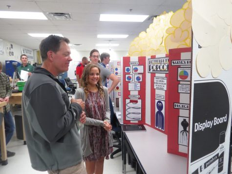 Fleher presents her project on Monday May 16. The students work all year long to create an improved product to solve a problem they recognize in their day-to-day lives.