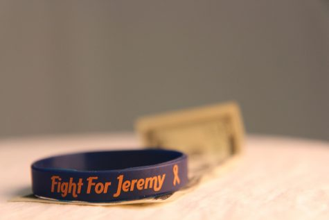 "Pictured is a ""Fight for Jeremy"" band. Wentling hopes to sell 1,000 for a total of $5,000 to be donated to the Presley family."