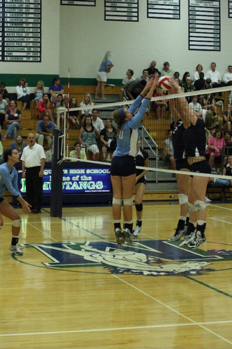 Molly Dean, substitute math teacher, plays for Parkway West against MHS during her senior year.