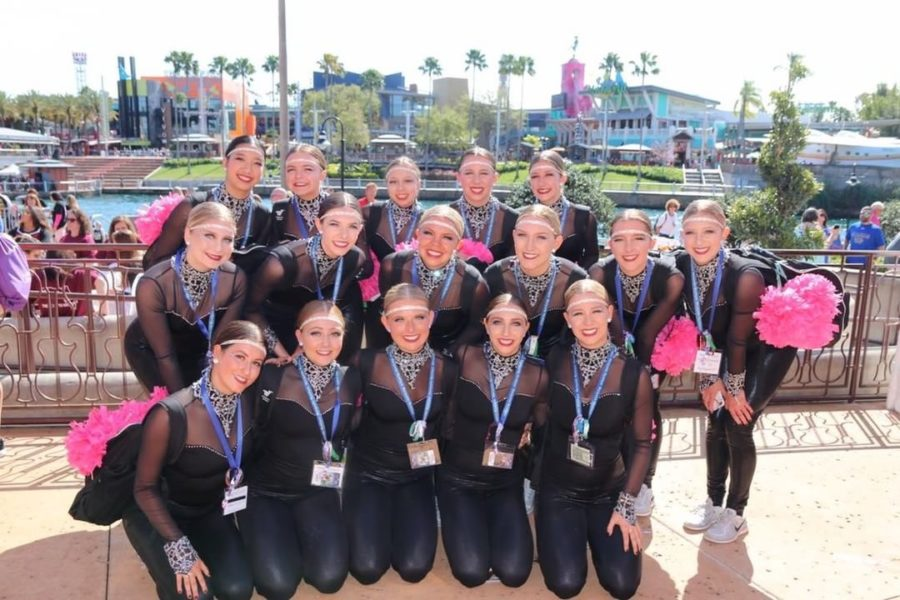 Varsity+Mystique+competes+in+the+National+Dance+Alliance+National+Championship+in+Orlando%2C+Fla.+The+team+placed+sixth+in+Large+Varsity+Team+Performance+and+thirteenth+overall+for+Large+Division+Jazz.