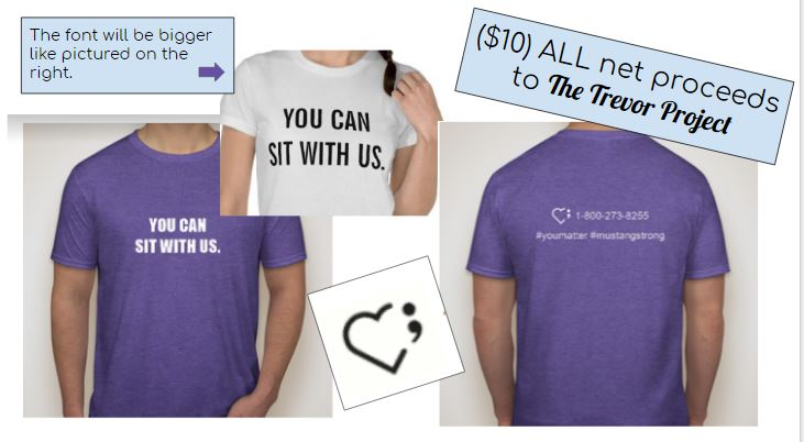 The+shirts+feature+a+semicolon%2C+a+prominent+symbol+in+LGBTQ%2B+culture.+The+semicolon+represents+when+someone+almost+chose+to+end+their+life%2C+but+didn%27t.