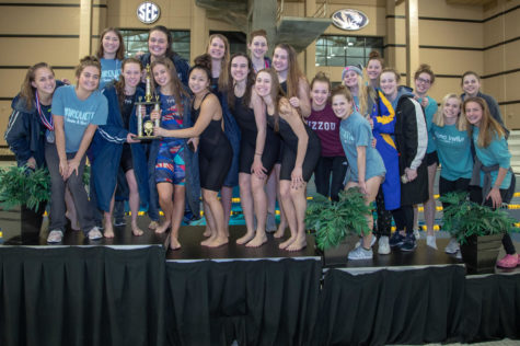 The Varsity Swim and Dive Team wins their biggest invite of the year against 40 other teams at Mizzou.