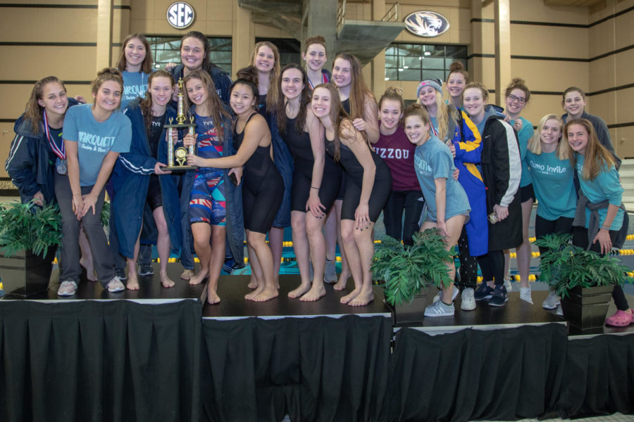 The+Varsity+Swim+and+Dive+Team+wins+their+biggest+invite+of+the+year+against+40+other+teams+at+Mizzou.