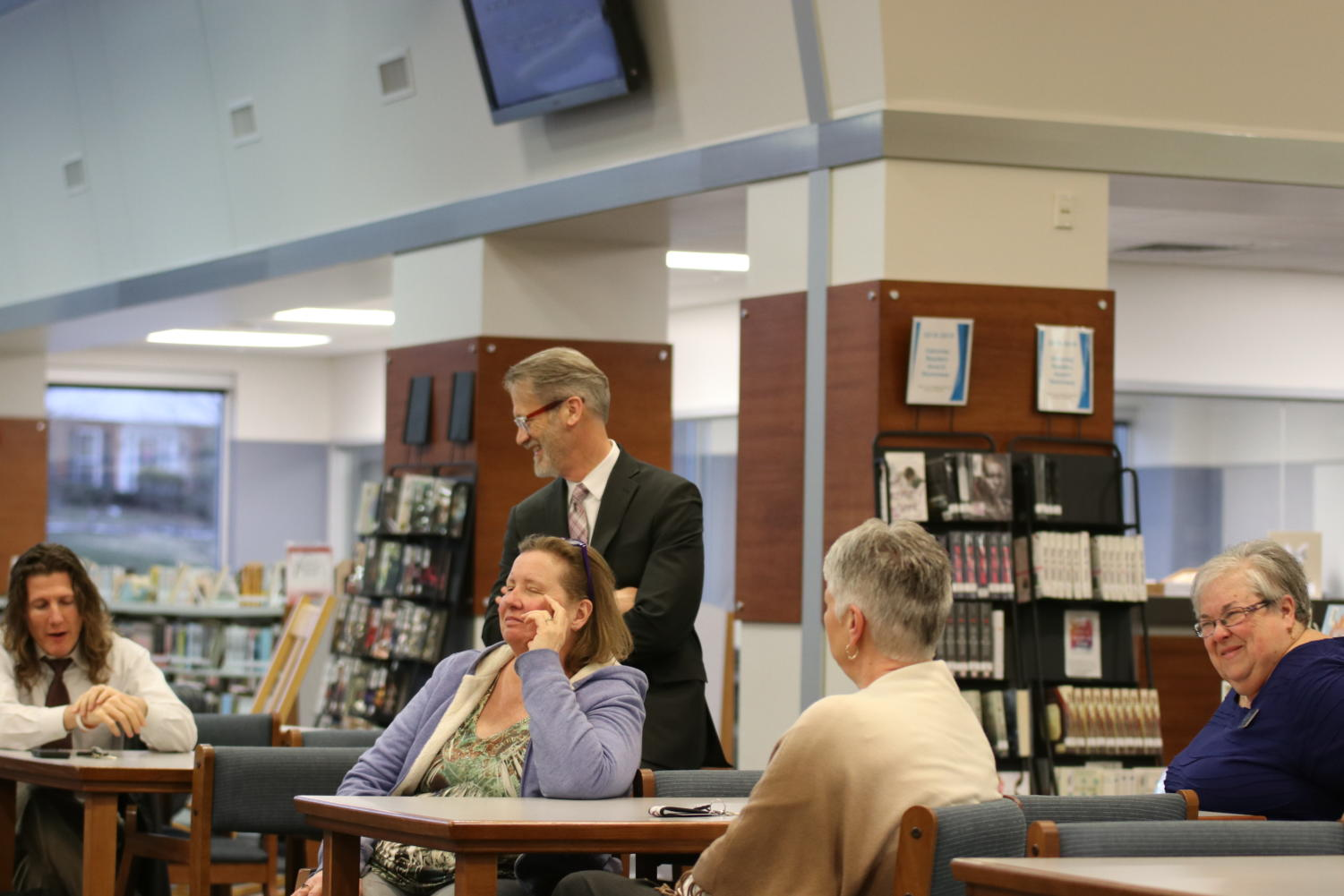 Superintendent Dr. Eric Knost holds a forum on March 13 for MHS faculty to express their expectations for the next year's principal after Principal Dr. Greg Mathison announced that he will be taking a job at Parkway as the Assistant Superintendent of Student Services. A similar forum was held later that day for parents to express their voice.