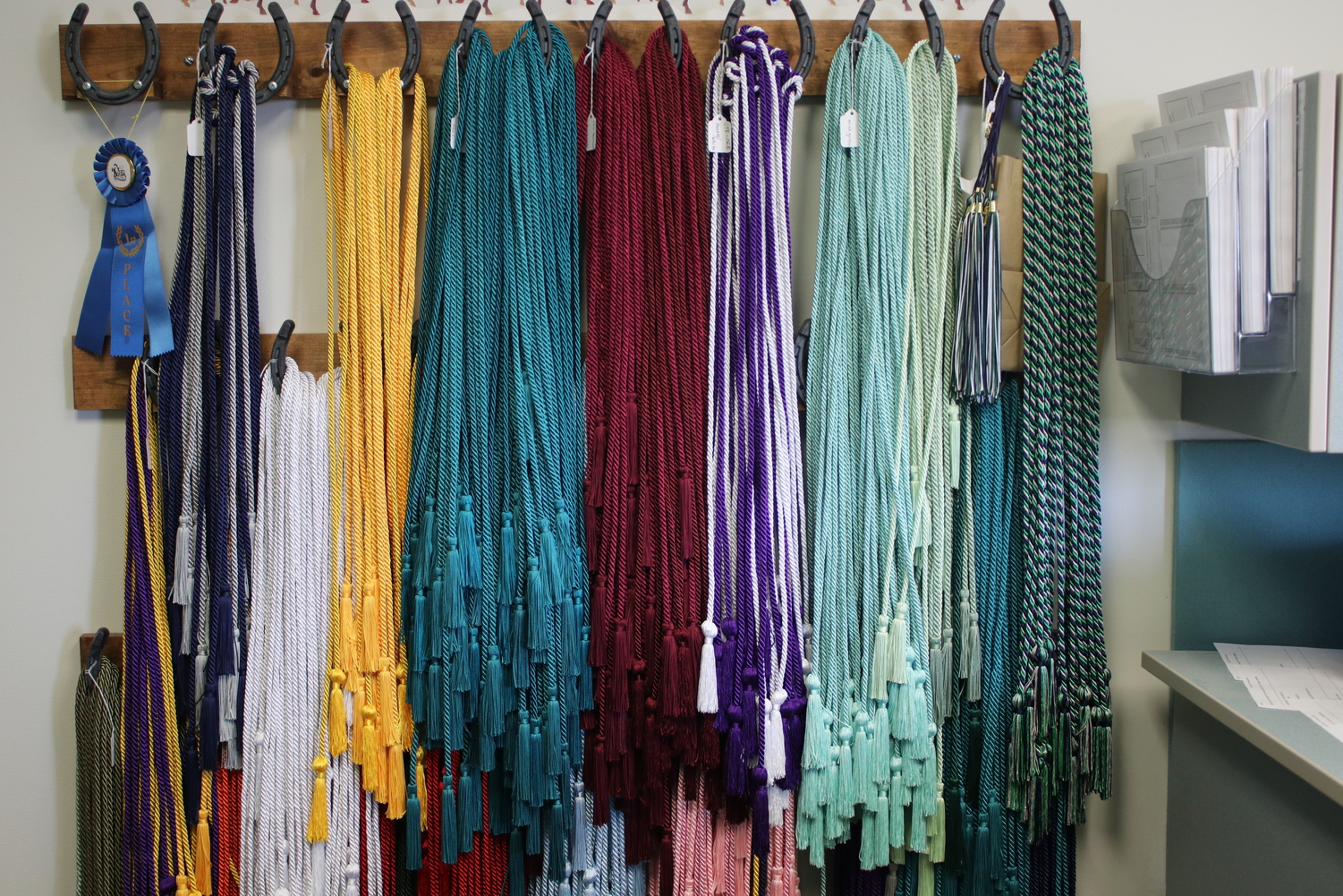 "Seniors are able to apply for honor cords which they will wear at graduation. Each honor cord has criteria that must be met in order to earn it including specifications on the number of classes that must be taken and GPA that must be earned in each discipline. ""Honor cords were designed to award students in particular disciplines in which they have had tremendous success,"" Laurie Schultz, language arts teacher, said."