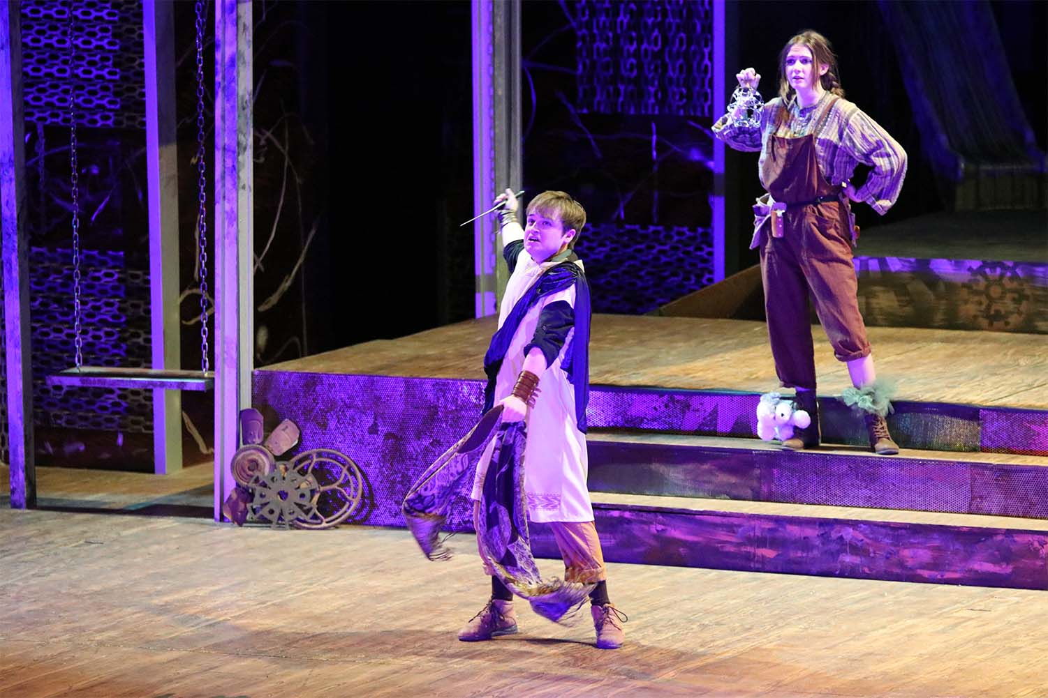 David Pisoni, junior, plays Nick Bottom, in A Midsummer Night's Dream. The performance was April 4-7.
