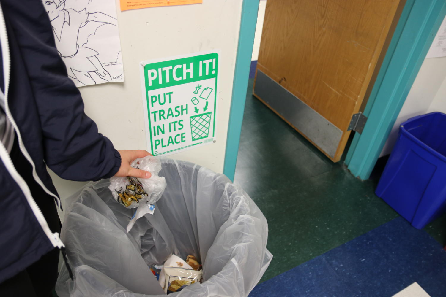 """For a whole week, Kathryn Andrews carried around her trash. """"Before I did this project I didn't realize how much trash I produced,"""" Andrews said."""