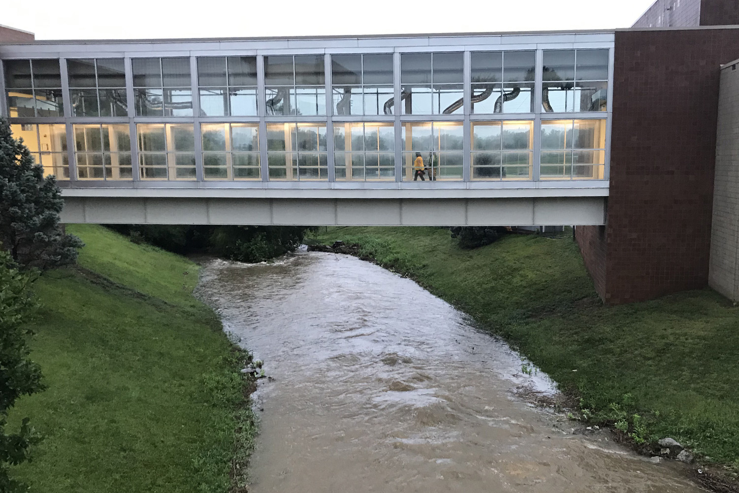 Flooding takes place early in the school year.