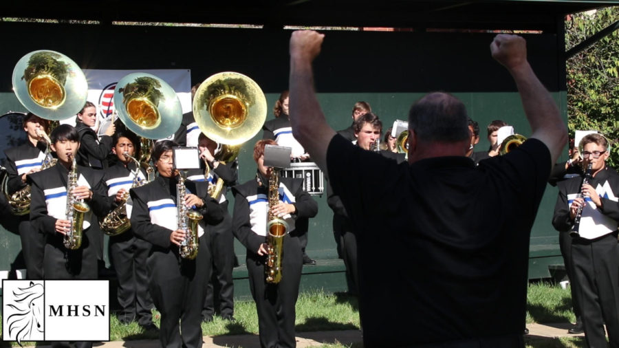 MHSNews   Marching Band Performs for Wounded Warriors Golf Tournament