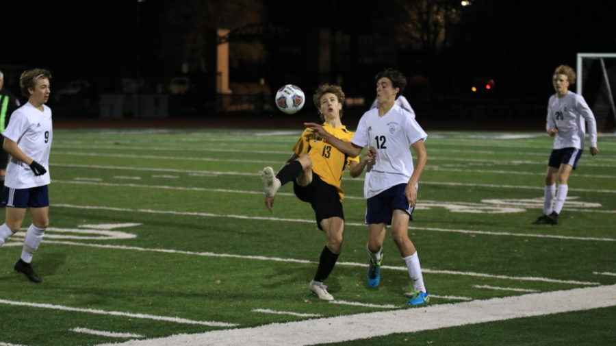 Varsity soccer travelled to face rival Lafayette Nov. 4 for the semifinal round of Districts. While the Mustangs' 9-10-1 season record paled in comparison against the Lancers' 17-6, MHS had won five of their last seven games coming into the match.