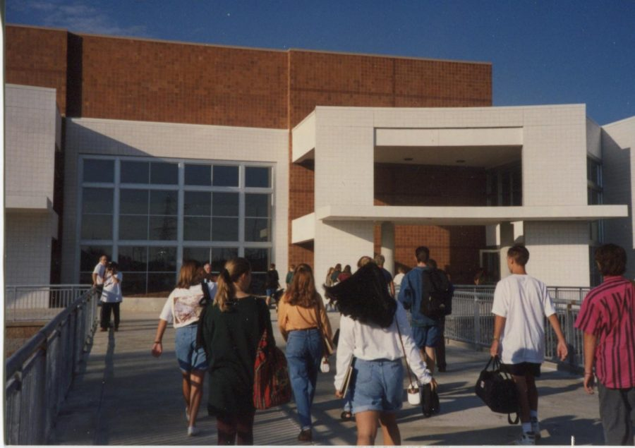 MHS students arrive at school for their inaugural year.
