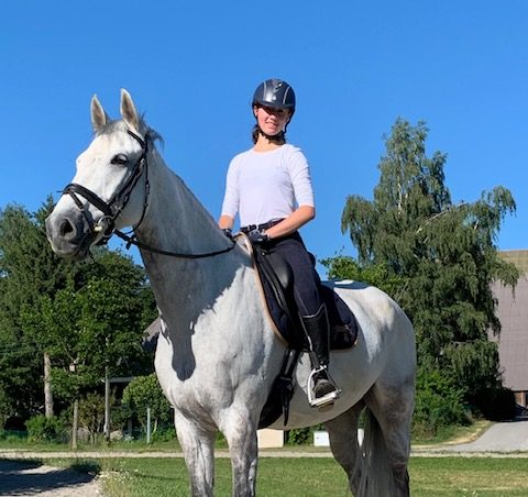 """Living an active life outside of school, Victoire Lehee said some of her favorite pastimes are hiking, running, and horse riding. She has ridden horses for about seven years and finds time to practice primarily on the weekends. In Switzerland, Lehee said she focused on her horse jumping skills. Now living in the U.S., she was able to find a new barn where she mostly works on dressage. She sits atop her horse, Lingotton, pictured above. """"Horse riding teaches me perseverance because sometimes the horse doesn't want to do things, and you can't be angry, so I think I learned patience too,"""" Lehee said. """"When we're together, I feel like the horse understands me, and you don't even have to talk."""""""