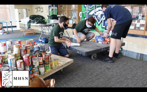 MHSNews | AFJROTC stocks MHS food pantry