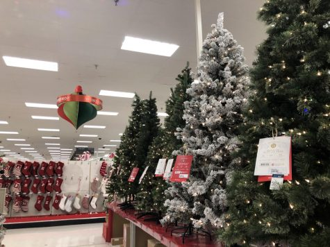 Target retailers stocked their aisles with Christmas decorations beginning Tuesday, Nov. 3.
