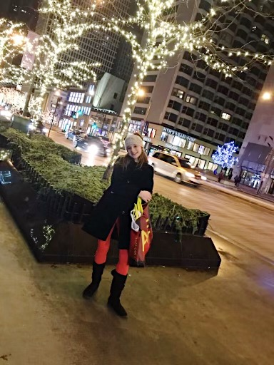 Mary Lewis, freshman, shops Black Friday deals in Chicago, IL.