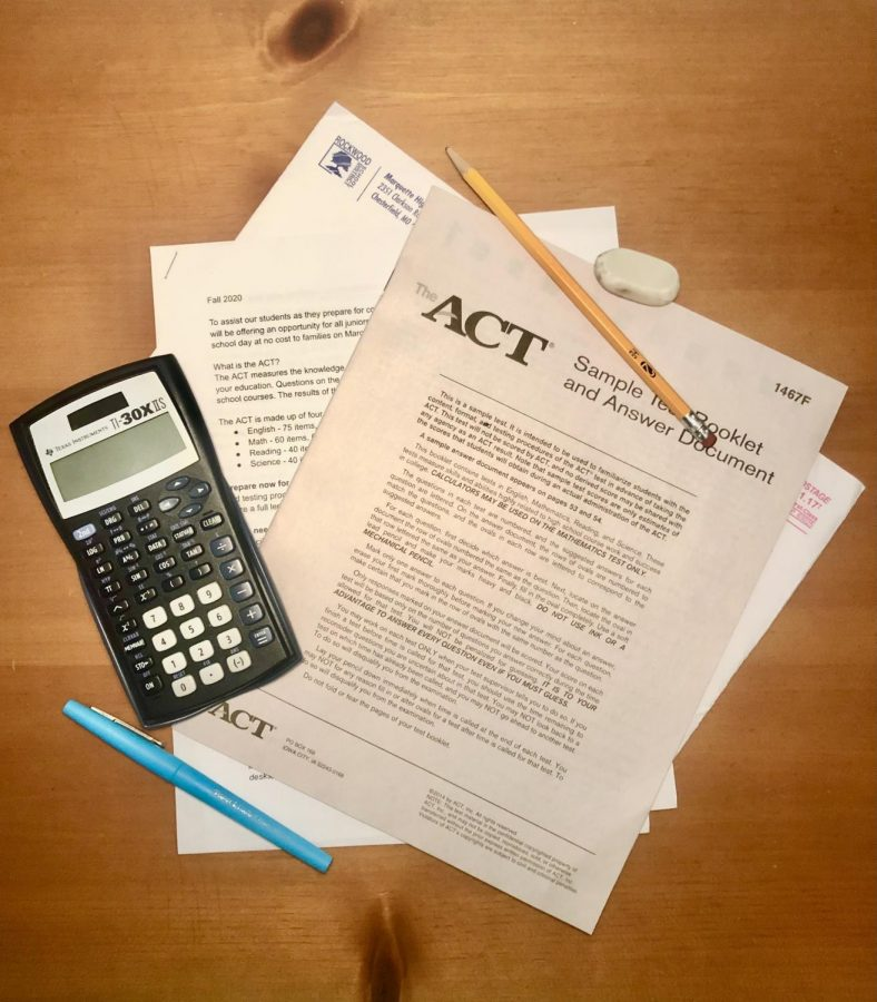 Juniors received a sample ACT test and scoring instructions in the mail by MHS in the fall in preparation for the school administered ACT on March 2.