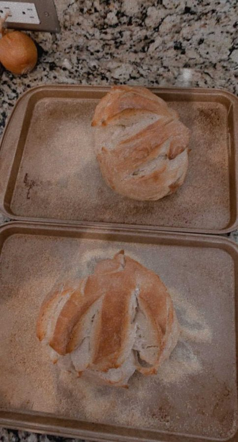 Ella Tolbert, junior, enjoys baking bread as a part of her self-care. Above is a photo of her creation.