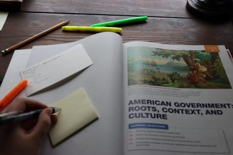 """Due to COVID-19 modifying the schedule for the school year, changes have been made to the content being taught in AP government classes. """"I had to take a step back and be like,"""