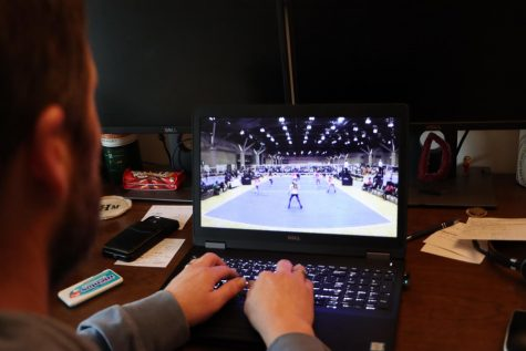 During a virtual volleyball college showcase, college coaches view the athletes through live streams that do not allow for them to properly judge the players.