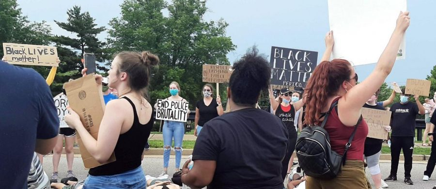 A crowd gathered in Ballwin, Mo., Wednesday June 3, 2020 to advocate for the Black Lives Matter movement and for accountability in the murder of George Floyd, an unarmed Black man by Derek Chauvin, a former Minneapolis police officer May 25, 2020. Of those killed by police in 2020, 80 were unarmed and most were people of color, according to the Mapping Police Violence 2020 report. Since 2017, most killings by police begin with traffic stops, mental health checks, domestic disturbances or reported low level offenses. It is imperative to demand systemic change in policing through policy and culture reform.