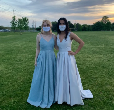 Senior Prom was complete with food, friends, and dancing. Masks were required for entry, but many people began to take their mask off throughout the night for no reason, which made me feel unsafe.
