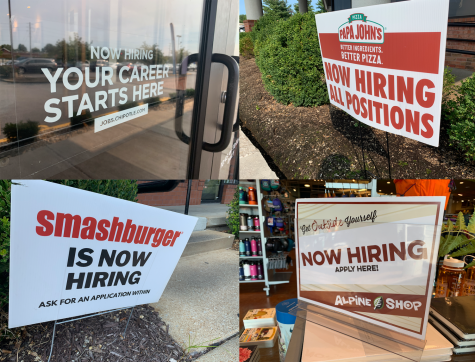 Businesses located near the intersection of Clarkson and Highway 40 put out signs to help bring in workers during the on going labor shortage. Teens are often the ones occupying the food and retail service workers that businesses are looking for now.