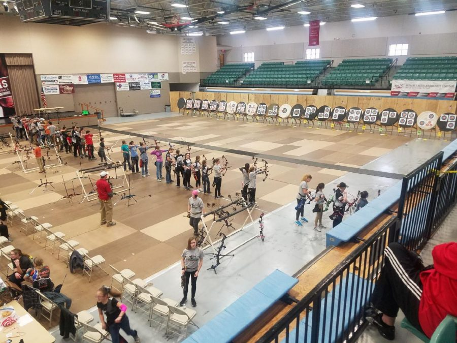 Sophomore+Sydney+Sonn+participates+competitively+for+archery+in+competitions+throughout+the+state.+Sonn+said+that+archers+compete+individually+at+tournaments%2C+however%2C+they+can+identify+the+club+they+train+with+if+a+title+is+won.+Sonn+trains+both+with+a+club+team+and+with+homemade+shooting+ranges+at+her+house.+It+just+takes+patience+and+a+lot+of+determination%2C+Sonn+said.+