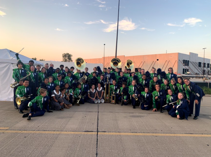 In their first competition of the season, the Marching Band came in first place overall and won awards for outstanding color guard, music and visuals.The next week, they took third place in the Lafayette Contest of Champions.